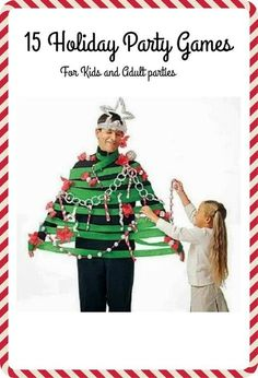 15 fun holiday party games for adults or kid holiday parties. Bring some of these fun Christmas party idea to your next party.