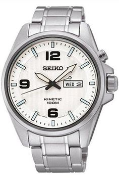 Seiko SMY135P1 Men Kinetic,Stainless Steel Case,day/date,100m Water resistant - http://yourperfectwatch.com/seiko-smy135p1-men-kineticstainless-steel-casedaydate100m-water-resistant/
