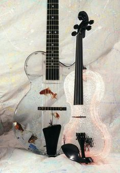 I like to play string instruments like guitar and violin. Band Nerd, Guitar Art, Cool Guitar, Ukulele Art, Art Beauté, Cool Fish Tanks, Unique Fish Tanks, Roof Lantern, Music Lovers