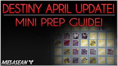 awesome Destiny - April Update. Planning and Game Program!