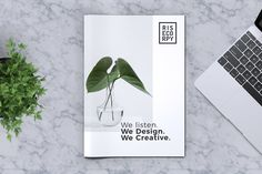 Creative Brochure Template Vol. 39 by RahardiCreative on Envato Elements Brochure Cover Design, Corporate Brochure Design, Creative Brochure, Brochure Template, Brochure Layout, Magazine Layout Design, Book Design Layout, Yearbook Layouts, Yearbook Spreads