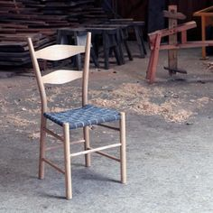 Ash ladder back with herringbone tape seat.  #chair...