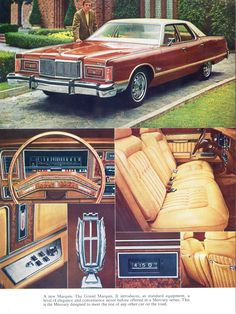 Classic American Cars from the and in the Brougham Style. American Classic Cars, Ford Classic Cars, Classic Auto, Buick Electra, Lincoln Continental, Chrysler New Yorker, Vintage Cars, Antique Cars, Mercury Marquis