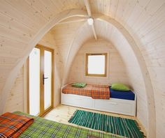 """""""modular housing design"""" - With the hexagonal shapes that make up Barry Jackson's modular housing design, it's hardly a surprise that the design has been dubbed t. Quonset Hut Homes, Wooden Hut, Modular Housing, Backyard Office, Tiny Houses For Sale, Small Houses, Small Cabins, Box Houses, Outdoor Brands"""