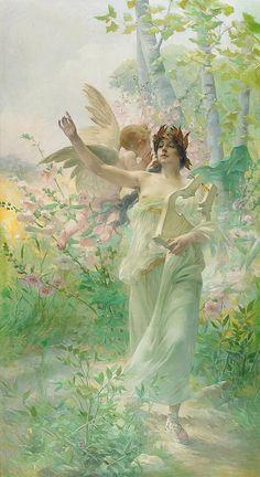 ≍ Nature's Fairy Nymphs ≍ magical elves, sprites, pixies and winged woodland faeries - Paul François Quinsac | Allégorie de la Musique