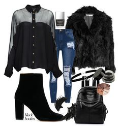 """""""Untitled #98"""" by elsa-ebervik on Polyvore featuring McQ by Alexander McQueen, Gucci, BillyTheTree, lilah b. and Illamasqua"""