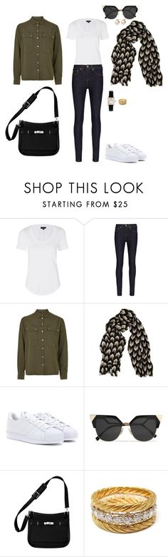 """""""Untitled #2106"""" by analuli on Polyvore featuring Topshop, rag & bone, adidas, Fendi, Hermès, Vintage Collection, Buccellati and Cartier"""