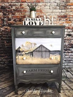 Funky Painted Furniture, Decoupage Furniture, Western Furniture, Recycled Furniture, Refurbished Furniture, Paint Furniture, Shabby Chic Furniture, Furniture Projects, Rustic Furniture