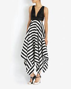 Nicholas EXCLUSIVE Striped Scarf Hem Dress Had2B@100% MO