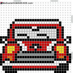Mini Cooper hama perler beads pattern Pixel Crochet, Crochet Chart, Pearler Bead Patterns, Perler Patterns, Fuse Beads, Perler Beads, Beaded Cross Stitch, Cross Stitch Patterns, Seed Bead Crafts