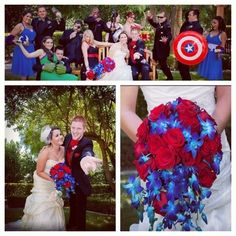 itssgaby:  My sister had an avengers theme wedding last night and it turned out to be literally the cutest thing I've seen in my entire life...