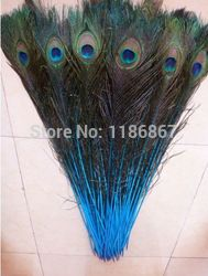 Online Shop Free shipping 50pcs/lot Blue Lake natural big eyes peacock feather 32-35 inch / 80-90 cm peacock feathers centerpieces wedding|Aliexpress Mobile