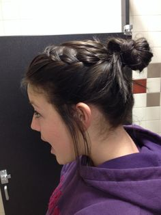A lazy day braid Hair Designs, Bun Hairstyles, My Hair, Lazy, Braids, Dreadlocks, Hair Styles, Beauty, Women
