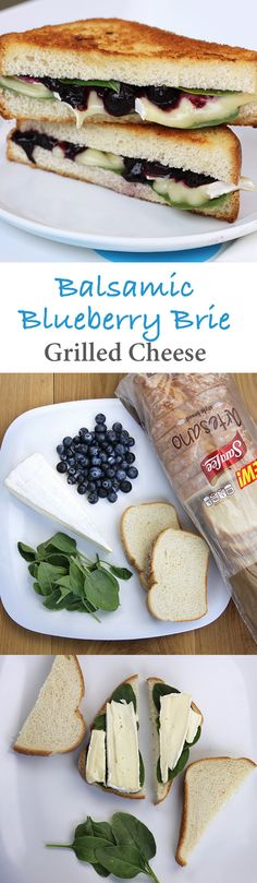 Balsamic Blueberry Brie Grilled Cheese Sandwich: Fresh blueberries and balsamic vinegar turn your favorite grilled cheese sandwich into something completely amazing on Sara Lee Artesano Bread.