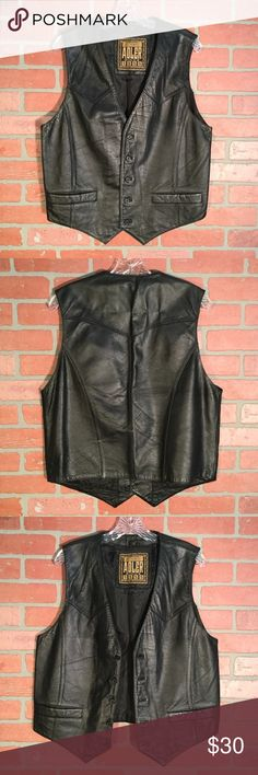 MEN/'S CLASSIC TALL BIKER VEST W//5 SNAP BUTTONS WITH V NECK TALL VEST