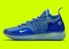2d09a5fa31c8 Nike KD 11 Blue Yellow AO2605-900 Official Images