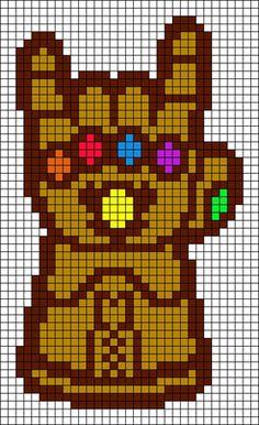 Marvel Cross Stitch, Cross Stitch Art, Cross Stitch Designs, Cross Stitch Embroidery, Cross Stitch Patterns, Hama Beads Design, Diy Perler Beads, Perler Bead Art, Easy Pixel Art