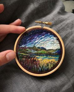 This Embroidery Artist Uses Thread Instead Of Paint To Create Amazing Landscape Scenes