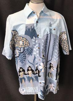 3a5e87901350 SHAG Toes on the Nose Hawaiian Shirt Volcano Hula Girls Men s XL