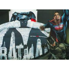 Batman v Superman quilt cover set for children that love the DC Comics superheroes.