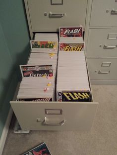 A big thanks to Jeff Siegrist for allowing us to re-post his great pics and pictures on setting up a comic collection in legal-sized filing cabinets. This is a topic close to my heart as I transitioned my collection to some lateral filing cabinets and love having them set up that way. Here's Jeff's simple …
