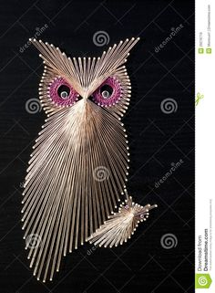 Owl String Art - Download From Over 60 Million High Quality Stock Photos, Images, Vectors. Sign up for FREE today. Image: 29276716