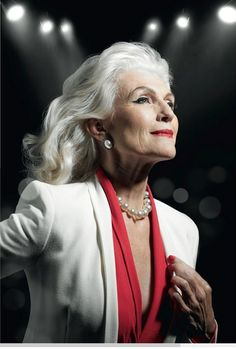 Hairstyles For Women Over 60 Long White Silky Elegance