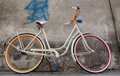 Renovated old dutch bike