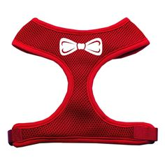 Mirage Pet Products Bow Tie Screen Print Soft Mesh Dog Harnesses, Medium, Red -- You can get more details by clicking on the image. (This is an affiliate link and I receive a commission for the sales) #MyDog