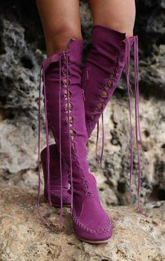 #Violet #Purple | #Bottes #Boots