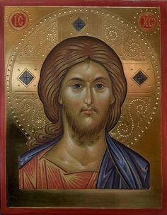 Domnul Iisus Hristos.icon orthodox Religious Icons, Religious Art, Roman Church, Mary And Jesus, Byzantine Icons, Arte Popular, Orthodox Icons, Painting Videos, Sacred Art