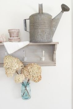 Watering can, clay pots - bring the outdoors in!