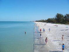 South Marco Beach on Marco Island, Florida.
