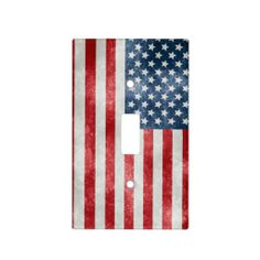 Grunge American USA Flag Light Switch Cover - decor, for the home, interior design