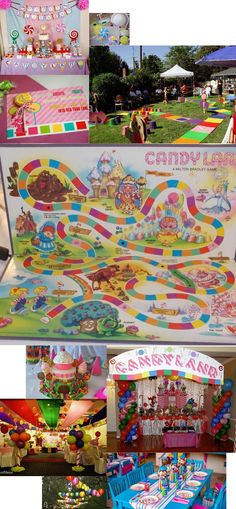 candyland party ideas for a child's birthday: