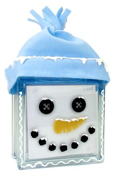 Check out Nicole™ Crafts Snowman Face Glass Block crafting ideas at A. Explore many more such exceptional art & craft products only here. Christmas Projects, Christmas Art, Holiday Crafts, Christmas Decorations, Christmas Glass Blocks, Christmas Centerpieces, Country Christmas, Homemade Christmas, Christmas Ideas