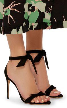 Clarita Suede Tie Front Sandals by ALEXANDRE BIRMANi