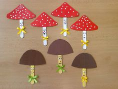 Mushroom Craft Idea We created lots of mushroom crafts for you. İf you want to make some mushroom crafts with your kids or students you can look and inspire by our created mushroom crafts. Animal Crafts For Kids, Toddler Crafts, Diy Crafts For Kids, Art For Kids, Fall Arts And Crafts, Autumn Crafts, Spring Crafts, Winter Craft, Pop Stick Craft