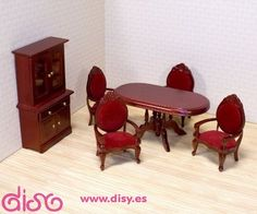 #miniaturascasasmuñecas ADORA - Miniaturas casas muñecas - Set de muebles comedor - 12586 www.disy.es