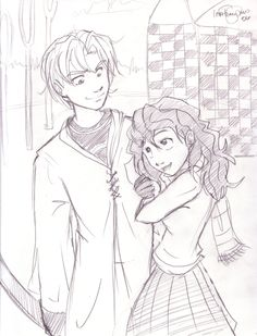 Draco and Hermione by *irishgirl982