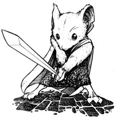 I like this illustration and I'd want to change him to having a morsel of bread an a hook as a hand. Little thief
