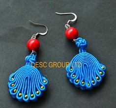 Blue Red Gold Ethnic Jewelry Handmade Jewelry Traditional Ethnic Earring Beaded Earring Pendant Earring for Derby Party. Ethnic Jewelry Ethnic Earring Pendant Earring Online with $11.66/Pair on Qescgroup's Store | DHgate.com