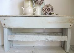 Rustic bench from pallets