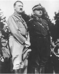 Hitler with Roehm in 1933