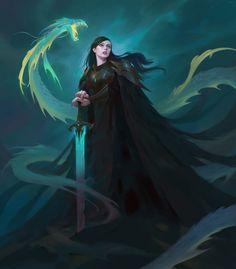 Frass & Dragon Sketch by Terry Wei Fantasy Character Design, Character Design Inspiration, Character Concept, Character Art, Concept Art, Character Ideas, Fantasy Warrior, Fantasy Rpg, Dnd Characters