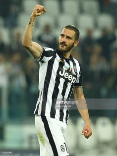 Leonardo Bonucci of Juventus FC celebrates a victory at the end of the UEFA Champions League semi final match between Juventus and Real Madrid CF at Juventus Arena on May 5, 2015 in Turin, Italy.