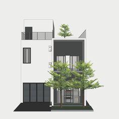 Pin by Eckbert Löwe on Architektur in 2020 Modern Architecture Design, Minimalist Architecture, Architecture Plan, House Outer Design, Modern House Design, Design Exterior, Facade Design, Modern Minimalist House, 3d Home