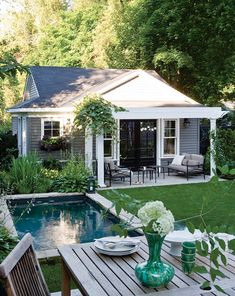 of :: pool dreaming Like the small patio and small pool.Images of :: pool dreaming - Fieldstone Hill DesignLike the small patio and small pool.Images of :: pool dreaming - Fieldstone Hill Design
