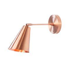 Cedar & Moss Copper Tilt Cone Sconce