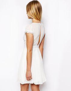 Image 2 ofASOS PETITE Exclusive Dress with Cap Sleeve